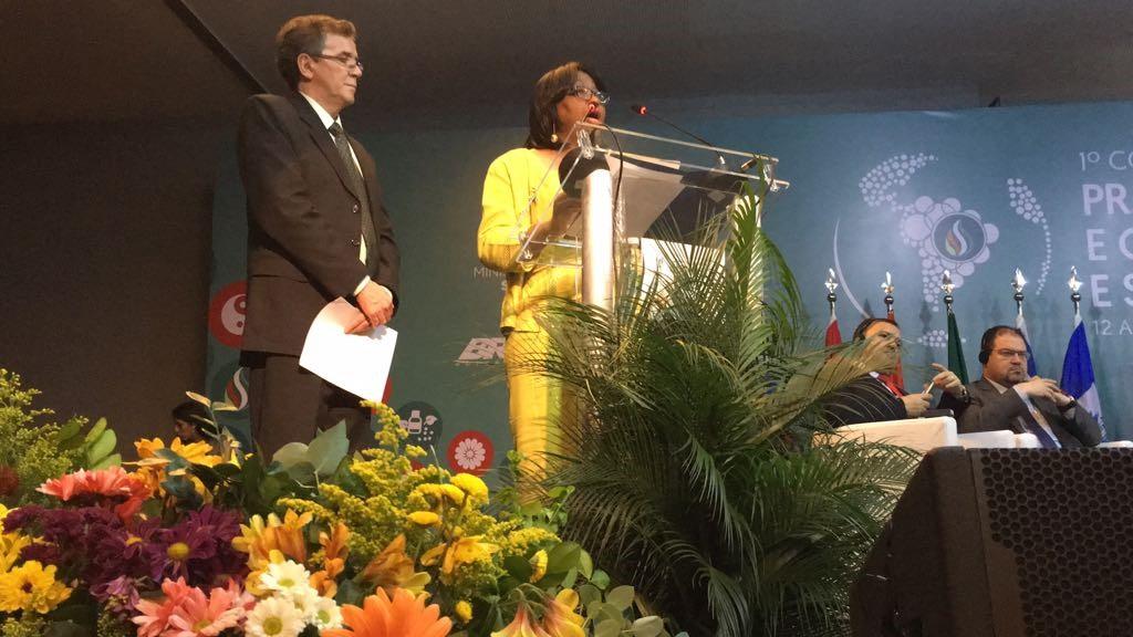 Dra. Carissa Etienne, directora de la OPS, Dr. Diego González, director BIREME. Discurso de Lanzamiento de la BVS MTCI