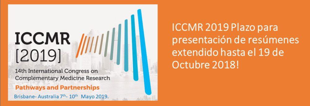 Presentación de resumenes para ICCMR2019