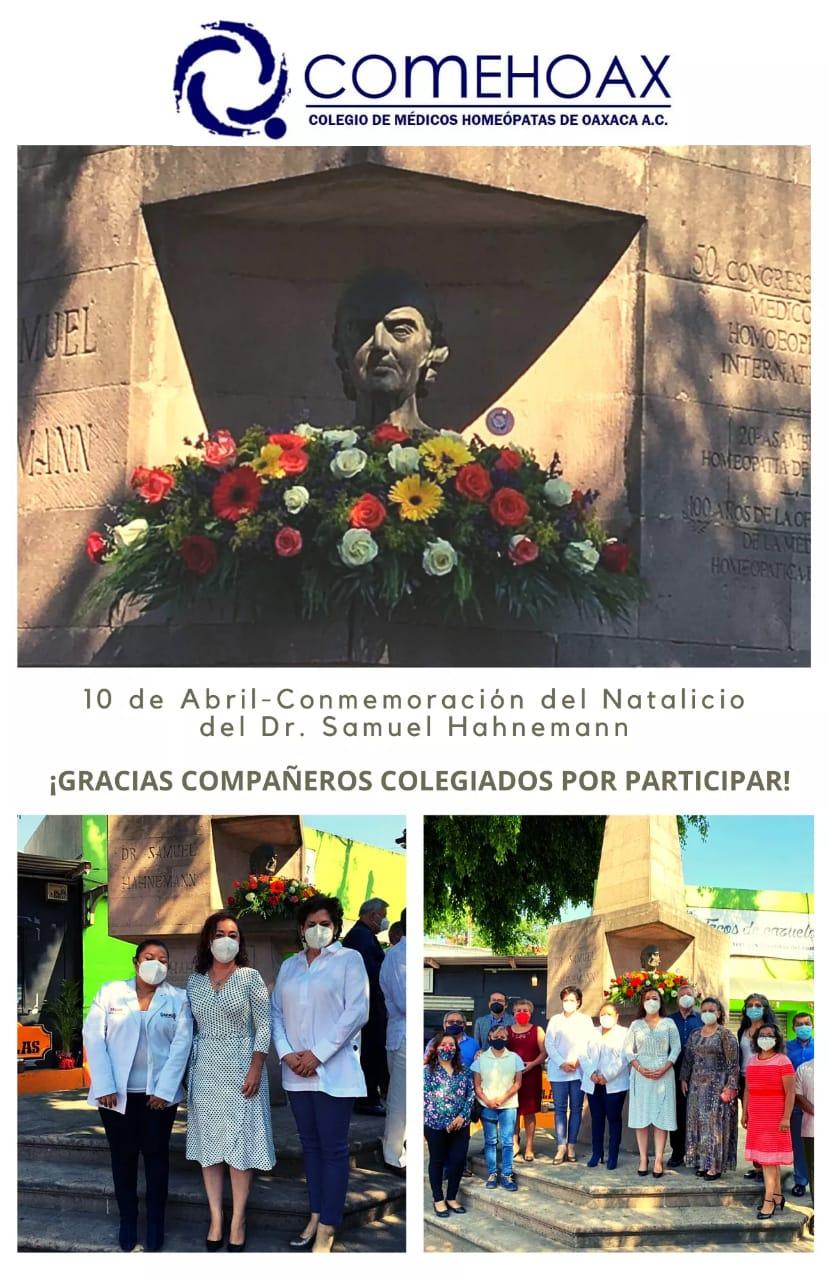 colegio medico Oaxaca Dia de la homeopatia Mexico 2021 2