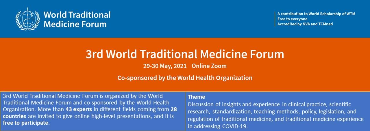World Traditional Medicine Forum may 2021