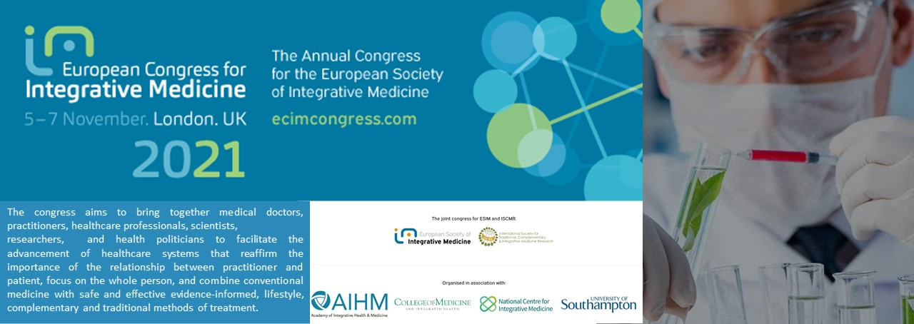 The 13th European Congress for Integrative Medicine now ONLINE